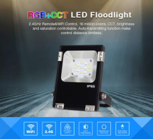 2.4GHz RF Remote & WiFi Control Smart 10W RGB+CCT LED Floodlight pictures & photos
