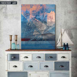Blue Abstract Canvas Print Oil Painting pictures & photos