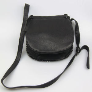 Fashion Small Black Shoulder Hanbag for Women Fashion Accessory Supplier pictures & photos