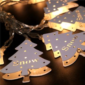Metal Christmas Tree String Fairy Light Wedding Vintage Wicker Decor pictures & photos