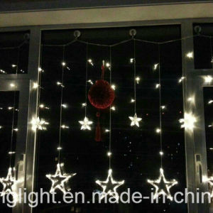 2m 138LEDs Curtain Light with 12 Big Star with Memory for Outdoor Use pictures & photos