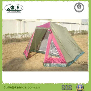 5p Double Layer Camping Tent with Living Room pictures & photos