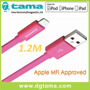 Lightning 8pin USB Sync Charge Cable 1.2m (MFI Certified) - Pink pictures & photos
