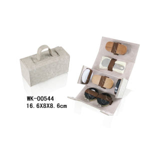 Embossed PU Leather Shoe Cleaning Set, Fashionable and Practical pictures & photos