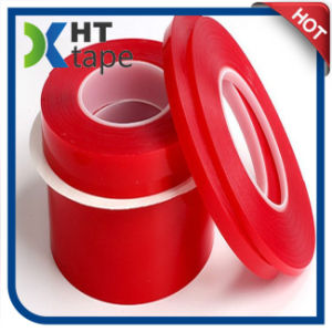 0.2 Thick Transparent Red Film Pet Double-Sided Tape pictures & photos