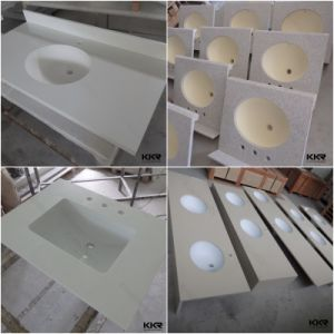 Hotel Bathroom Single Hole Bathroom Quartz Vanity Tops pictures & photos