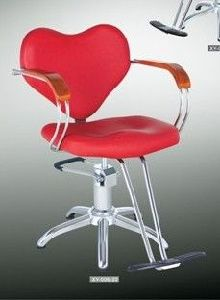 Salon Barber Chair Red Heart Hairdressing Chair