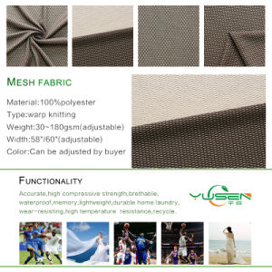 Breathable Birdeye Polyester Sportswear Mesh Fabric for Garment pictures & photos