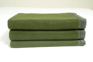 100%Wool Old Designed Military Tactical Warm Fleece or Wool Outdoor Blanket pictures & photos