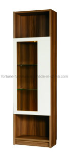 Wooden Walnut Display Cabinet with Glass Decaration (B301)