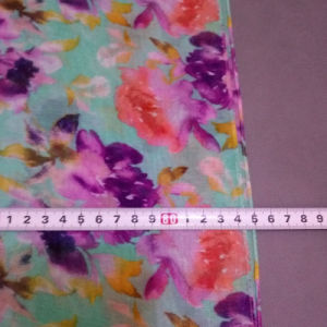 The New Flowers Printed Voile Scarf pictures & photos