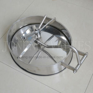 Stainless Steel Sanitary Oval Swing-in/Swing-out Manway pictures & photos