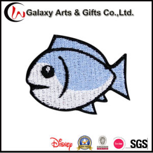 Custom Animal Polyester Flat Custom Embroidery Patch Fish for Clothing