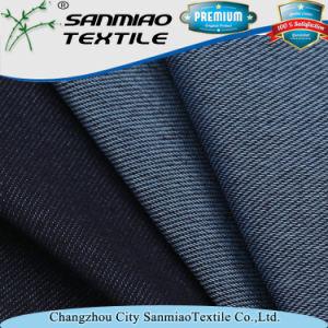 Indigo 30s Polyester Spandex Cotton Twill Denim Fabric pictures & photos