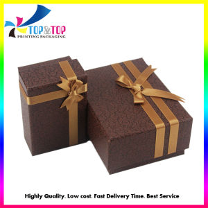 OEM Factory Ribbon Decoration Paper Gift Box with Lid pictures & photos