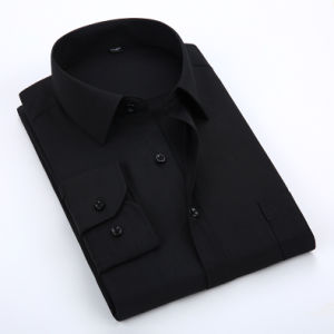 Men′s Black Long Sleeve Business Casual Shirts Online pictures & photos