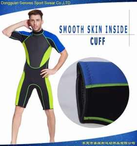 Men Waterproof and Soft Neoprene Short Sleeve Wetsuit pictures & photos
