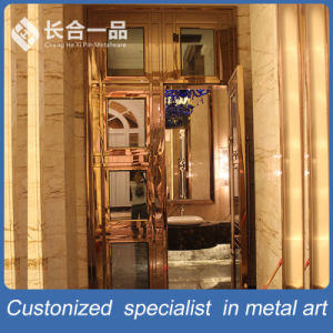 Customized Best Quality Rose Gold Steel Door for KTV/Hotel pictures & photos
