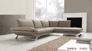 Home Furniture Leather Sectional Sofa with Recliner Sofa Furniture pictures & photos
