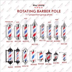 Barber Pole Stripes Rotating Metal Hair Salon Shop pictures & photos