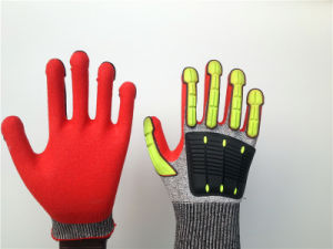 Cut5 Stock Hppe Gloves with TPR Sewing pictures & photos