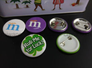 Custom Design Logo Printing Button Badges (PBB006) pictures & photos