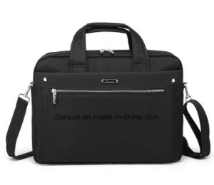 "China Supplier Black 15.6"" Nylon Laptop Messenger Bag, Factory Make OEM Multifunctional Notebook/Laptop Briefcase Bag for Business Trip pictures & photos"