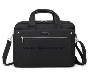 "China Supplier Black 15.6"" Nylon Laptop Messenger Bag, Factory Make OEM Multifunctional Notebook/Laptop Briefcase Bag for Business Trip"