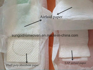 Airlaid Non Woven Fabric with Sap for Sanitary Napkin Manufacturer pictures & photos