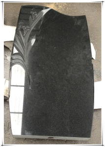 Russian Black Granite Funeral Monument Headstones Tombstone pictures & photos