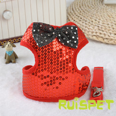 Shining Vest Dog Harness Pet Wedding Clothes Products pictures & photos