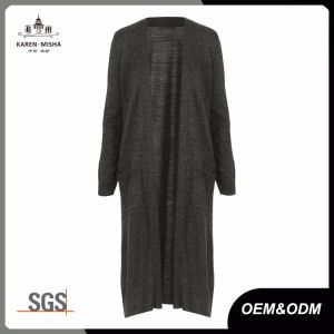 Side Slit Pockets Long Cardigan Sweaters for Women pictures & photos