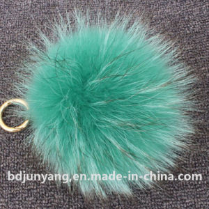 Handbag Pendant Soft POM POM Raccoon Fur Ball Keychain pictures & photos
