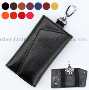 OEM Logo Multifunctional Soft Leather Key Bag with Hook pictures & photos