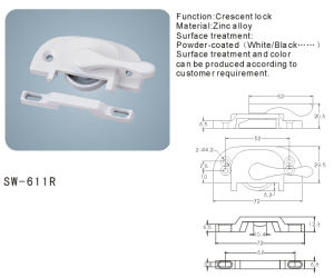 Crescent Lock for Window and Door Hardware Accessories (SW-611L/R) pictures & photos