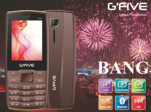 Gfive Bang Feature Phone with FCC, Ce, 3c