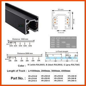 Aluminum 4 Wire LED Spot Light Square Track (XR-L510) pictures & photos