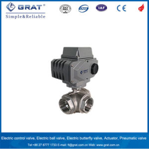 3 Way Multi Control Ss Ball Valve with Electricity Motorized Actuator pictures & photos