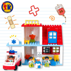 Plastic First Aid Center Blocks Toy for Kids pictures & photos