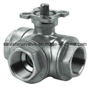 Female 3 Way Ball Valve with High Mounting pictures & photos