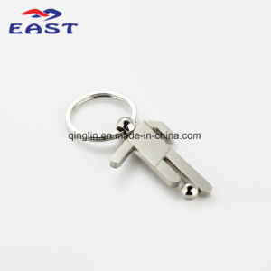 Customized World Cup Footballer Design Metal Key Ring pictures & photos