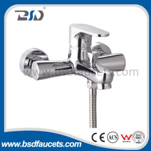 Polished Brass Bathroom Basin High Neck Extended Basin Mixer Faucet pictures & photos