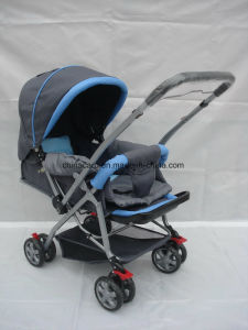 European Standard Fold Baby Pram with Foot Cover pictures & photos