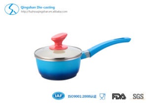 Aluminium Maifanite Non-Stick Single Handle Milk Pot for Cookware pictures & photos