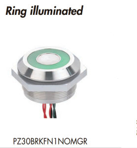 30mm Stainless Steel Ring Illuminated Piezo Switch pictures & photos