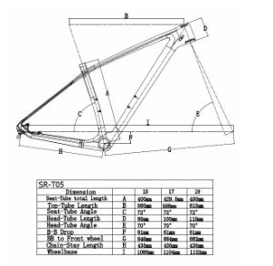 Rigid Bicycle Frame for MTB with Carbon T800 Material pictures & photos