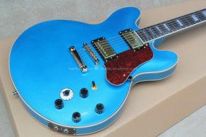 Hanhai Music / Blue Electric Guitar with Bbking Signature (ES-335) pictures & photos