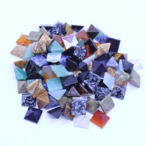 2 Size Mixed Color Natural Stone Pyramid Cab Cabochon Beads No Hole pictures & photos