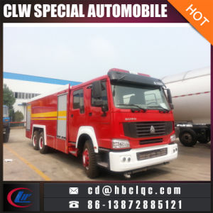 HOWO 13mt-16mt Fire Fighting Truck Fire Extinguisher Vehicle pictures & photos