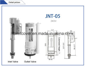 Low Cost Tank Fitting Fill Valve and Outlet Valve Dual Flush pictures & photos